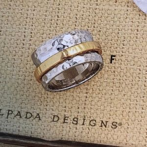 Silpada Sterling Silver and Gold Spinner Ring